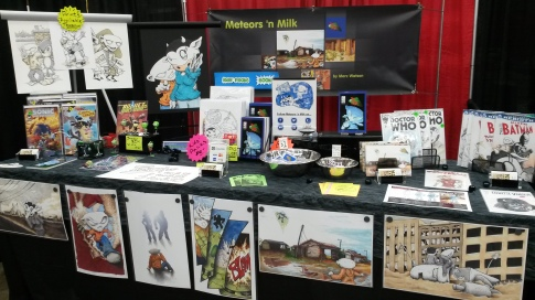 Saturdays booth displaying 11x17 prints for the first time.